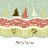 Retro cartolina di Natale Immagine Stock