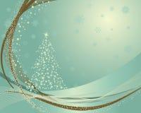 Retro cartolina di Natale Immagini Stock