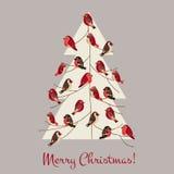 Retro cartolina di Natale Fotografia Stock