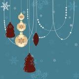 Retro cartolina di Natale Immagine Stock Libera da Diritti
