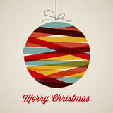 Retro cartolina di Natale Fotografie Stock