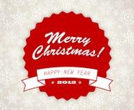 Retro cartolina di Natale dell'annata semplice Fotografia Stock