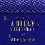 Retro cartolina di Natale. Illustrazione d'annata Immagini Stock