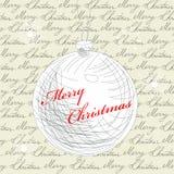 Retro cartolina di Natale stilizzata Immagine Stock