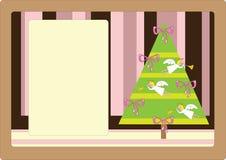 Retro cartolina di Natale sveglia Fotografie Stock