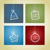 Retro cartoline di Natale Fotografia Stock Libera da Diritti