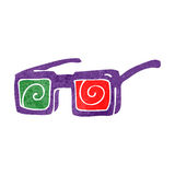Retro cartoon 3D glasses Stock Photo