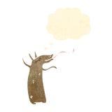 Retro cartoon aardvark. Retro cartoon with texture. Isolated on White Royalty Free Stock Photos