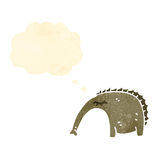 Retro cartoon aardvark. Retro cartoon with texture. Isolated on White Royalty Free Stock Image