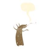 Retro cartoon aardvark. Retro cartoon with texture. Isolated on White Royalty Free Stock Images