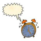 retro cartoon alarm clock Royalty Free Stock Photo