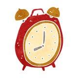 retro cartoon alarm clock Royalty Free Stock Photos