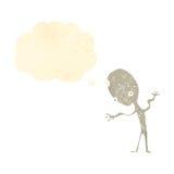 Retro cartoon alien Stock Image