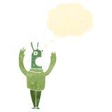 Retro cartoon alien Stock Photo