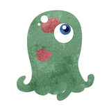 Retro cartoon alien blob monster Royalty Free Stock Photo