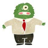 retro cartoon alien boss Royalty Free Stock Photo