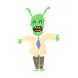 retro cartoon alien boss Stock Photo