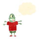 Retro cartoon alien man Stock Photography