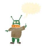 Retro cartoon alien man Royalty Free Stock Image