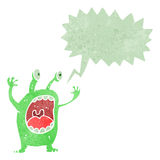 Retro cartoon alien monster Royalty Free Stock Photography
