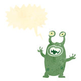 Retro cartoon alien monster Royalty Free Stock Photos