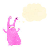 Retro cartoon alien slug monster Stock Photography