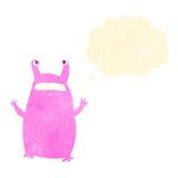 Retro cartoon alien slug monster Royalty Free Stock Photos