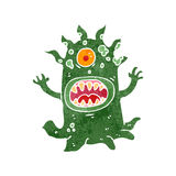 Retro cartoon alien space monster Stock Image