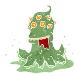 Retro cartoon alien space monster Royalty Free Stock Images