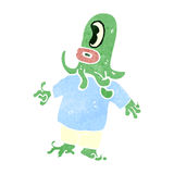 Retro cartoon alien space monster Stock Photos