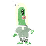 Retro cartoon alien space monster Royalty Free Stock Photos