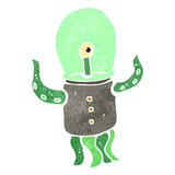 retro cartoon alien spaceman Royalty Free Stock Photography