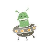 Retro cartoon alien Stock Photos