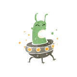 Retro cartoon alien Royalty Free Stock Photo