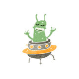 Retro cartoon alien Royalty Free Stock Photography