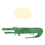 retro cartoon alligator Stock Photo