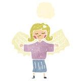 retro cartoon angel girl Stock Photos