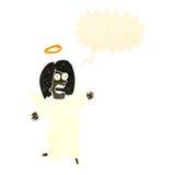 retro cartoon angel with speech bubble Royalty Free Stock Image