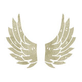 retro cartoon angel wings Stock Photos