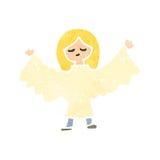 Retro cartoon angel woman Royalty Free Stock Photo