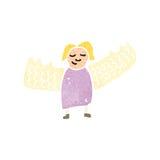 Retro cartoon angel woman Stock Images