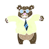 Retro cartoon angry bear boss Royalty Free Stock Image