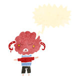 Retro cartoon angry little cloud head creature Stock Photo