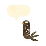 Retro cartoon annoyed bird Stock Photography