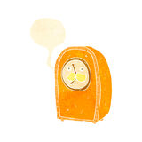 retro cartoon antique clock Stock Photos