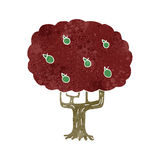 Retro cartoon apple tree Royalty Free Stock Image