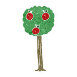 Retro cartoon apple tree Stock Images