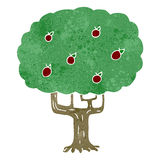 Retro cartoon apple tree Royalty Free Stock Photo