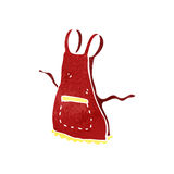 Retro cartoon apron Stock Photos