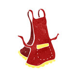 Retro cartoon apron Stock Images
